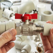 Plumbing fittings — 图库照片