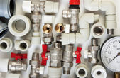 Plumbing fittings — Foto Stock