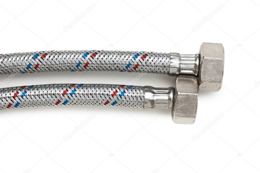Plumbing hoses isolated on white background — Stock Photo #7267312