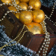 Christmas decoration in chest — Stock Photo #7285569