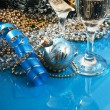 Glasses of wine and Christmas decoration — ストック写真 #7398670
