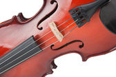 Violin isolated on white — Stock Photo