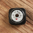 Compass on wooden background — Stockfoto
