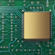 Microchips on a printed circuit board — Stock Photo #7703665