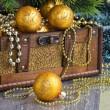 Christmas decoration in chest — Stock Photo #7704031