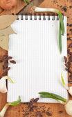 Portable pour cuisiner des recettes et des épices — Photo