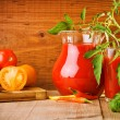 Juice of tomatoes — Stock Photo