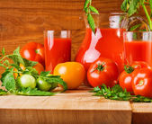 Tomatoes composition — Stock Photo