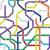 Abstract seamless pattern - metro scheme — Stock Vector