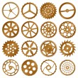 Set of vector design elements - watch gears — Stock Vector