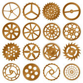 Set of vector design elements - watch gears — Vettoriale Stock