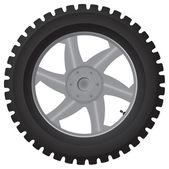 Car wheel on white - vector illustration — Stock Vector