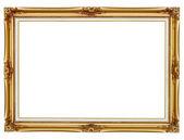 Yaldızlı çerçeve beyaz zemin üzerine boyama için — Stok fotoğraf