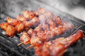 Fried Chicken shashlik - Thai food — Stock Photo