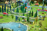 Maquette city park with a fantastic road — Stock Photo