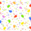 Vector illustration of a birthday background with balloons - Stock Vector