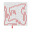 Vector illustration of a  labyrinth/maze — Stock Vector