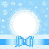 Vector illustration of a Christmas background with white snowfla — Vecteur