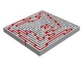Vector illustration of a labyrinth/maze made with 3D effect — Vettoriale Stock