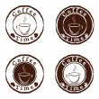 Stock Vector: Vector coffee time stamps set