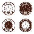 Vector coffee time stamps set - Stock Vector