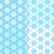 Vector illustration of a set of  seamless snowflakes background. — Stock Vector