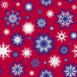 Colorful seamless snowflakes background. Christmas theme. vector illustrati — Stock Vector