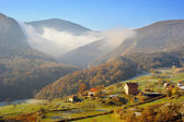 Serbian mountain village — Stock Photo