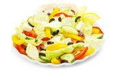 Salad on white — 图库照片