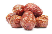 Dates on white — Stock Photo