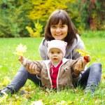 bebê e mãe feliz — Foto Stock