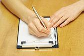 Stift in der hand — Stockfoto