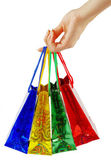 Shopping bags in hand — Stock Photo