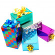 Christmas box gifts — Stock Photo