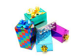 Christmas box gifts — Stock Photo
