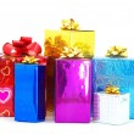 Christmas box gifts — Stock Photo #7526545