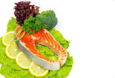 Salmon and spices — Stock Photo