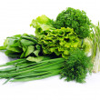 Herbs on white — Stock Photo
