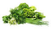 Herbs on white — Stock Photo