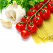 Pasta with tomatoes - Stock Photo