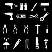 Hand tools - vector icons — Stock Vector
