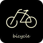 Bicycle - vector icon — Stock Vector