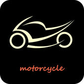 Motorcycle - vector icon — Stock Vector