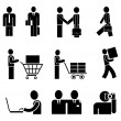 Isolated vector icons - Stock Vector