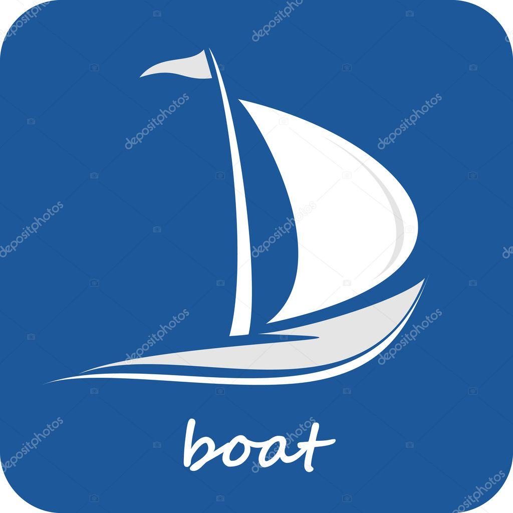 символ лодка с парусами