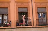 Veranda in house of Granada — Stock Photo