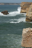 The beach in Sagres — Stock Photo