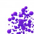Stock Photo: Violet spheres abstract technological background