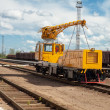 Stock Photo: Maintenance train on railway