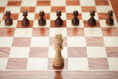 Chess concept over grey background — Stock Photo